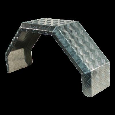 Spatscherm enkel as aluminium 230mm x 800mm
