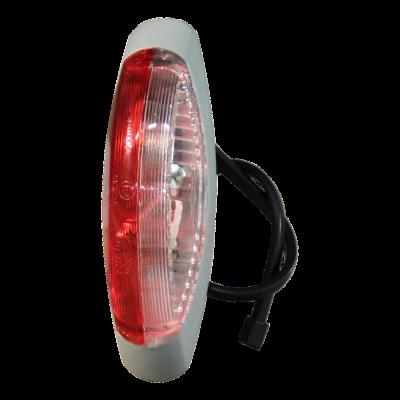 Contourlamp Aspöck Flexipoint II rood / wit DC kabel 250mm