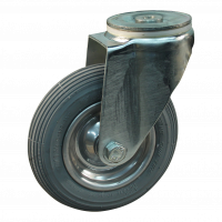Roulette pivotante set 7x1 3/4 (175x45) C-179 4PR 1.25x3.8 (200x50) ET0 NL60 46-91 - 91 métal, gris