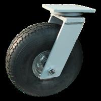 Swivel castor 4.00-4 V-6605 6 2.10-4H2 ET0 roller bearing Ø25 NL75 20 steel, grey