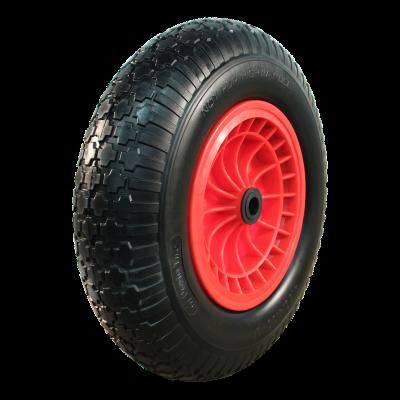PU Reifen + Rad 4.00x8 Block + 2.50Ax8 Rollenlager Ø20 NL75 kunststoff, Rot