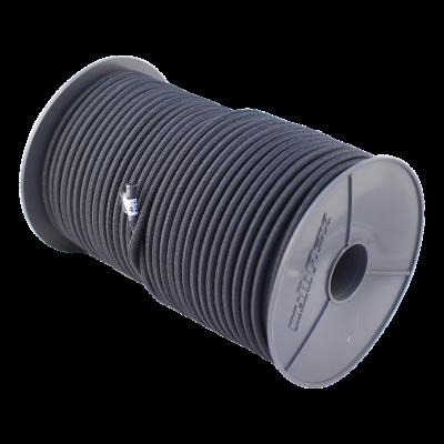 Elastische kabel zwart Ø6 100m.
