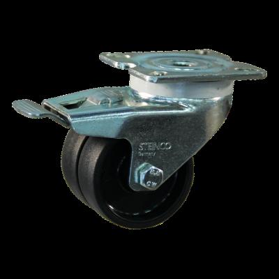 Roulette pivotante avec frein 50mm serie 65 - 42