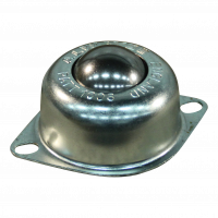 Ball fixing unit standard oval flange Ø25,4 type 13 (steel ball, galvanized housing)
