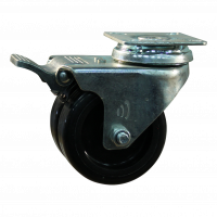 Lenkrolle mit Feststeller 75mm serie 65 - 62