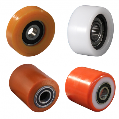 Pallet truck rollers and guide rollers