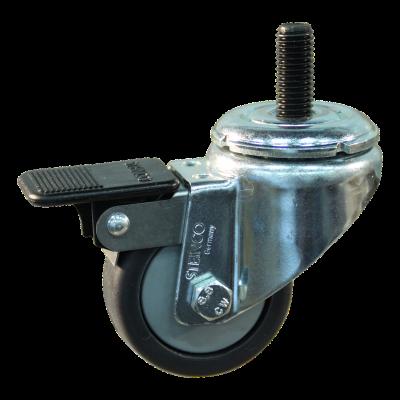 Roulette pivotante avec frein 50mm serie 64 - 40