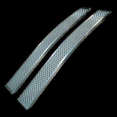 Set oprijplaten gebogen aluminium 1500 x 200