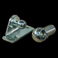 Hoekbeugel met kogel, kogelpan en borgbeugel BA30/K13+PF30 verzinkt Max 1200N.