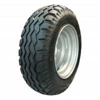 Komplettrad 10.0/75-15.3 IMP NIM01 14PR + 9.00x15.3 ET0 94/140/5 130 (nicht angetrieben Rad) / 118 (angetrieben Rad) A8 Stahl, grau