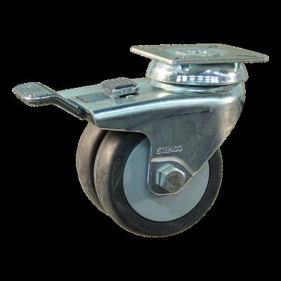 Zwenkwiel geremd 75mm serie 64 - 42