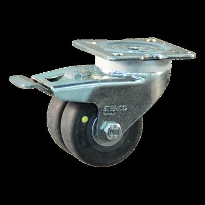 Roulette pivotante avec frein 50mm serie 93 - 42
