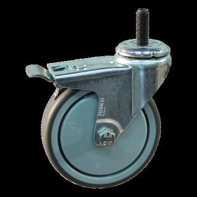 Roulette pivotante avec frein 100mm serie 68 - 40