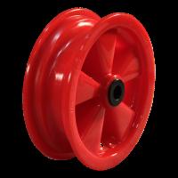 Komplettrad 16x6.50-8 V-3502 4PR + 2.50Ax8 Rollenlager Ø20 NL88 52 N kunststoff, Rot