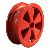Rad 2.50Ax8 Rollenlagersitz Ø35.1 NL75 kunststoff, Rot