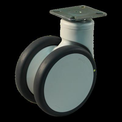 Roulette pivotante 125mm série 55 - 77