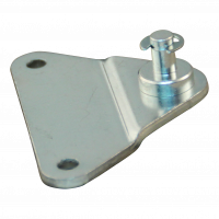 Attachment plate with pin BA01/Z06 Max 500N, with circlip. material thickness 3 mm, height 10 mm, 2 holes Ø5,3mm by 55mm. 1 hole
