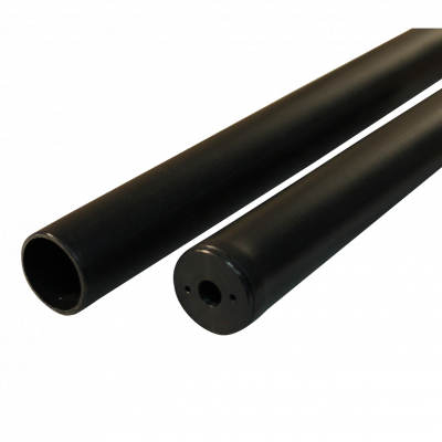 With protection tube 10-23 250 285 plastic, jet black RAL 9005