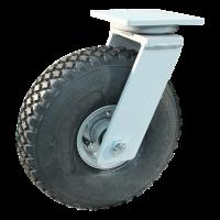 Swivel castor 4.00-4 V-76 extra 6 2.10-4H2 ET0 ball bearing Ø25 NL75 20 max. 30Km/h steel, grey