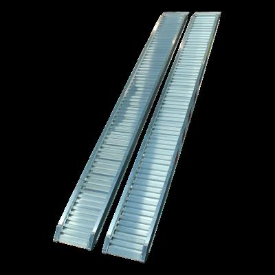 Set oprijplaten recht aluminium 3000 x 300