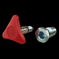 Adaptateur bouton tourner noir > rouge PMS12-25-45