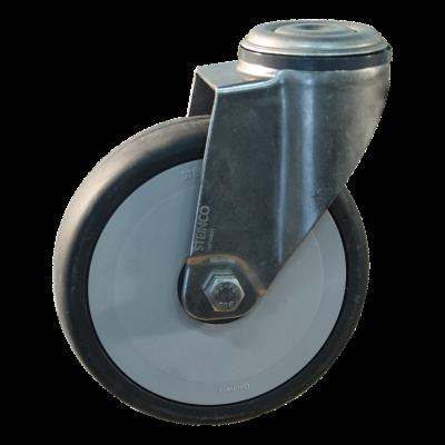 Roulette pivotante 125mm serie 66 - 38