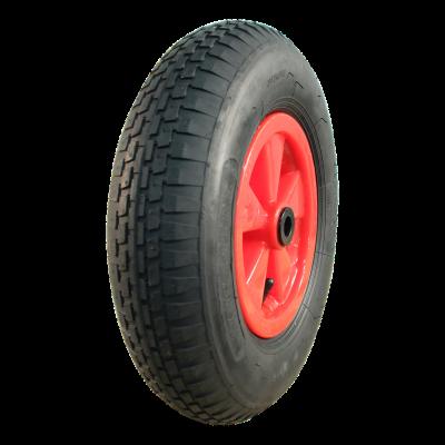Komplettrad 4.80/4.00-8 V-6635 4PR + 2.50Ax8 Rollenlager Ø20 NL88 kunststoff, Rot