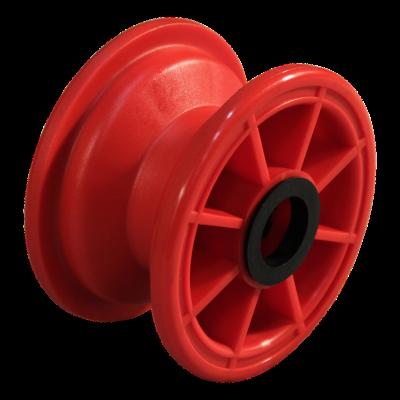 Rad 2.10x4 Rollenlager Ø25 NL75 kunststoff, Rot